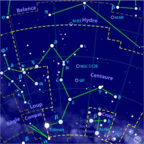 Croix du sud et constellation du Centaure